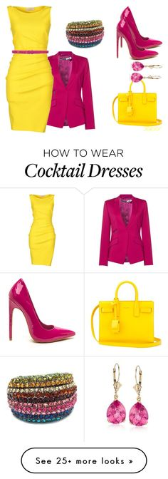 """""""Pops Of Color"""" by flybeyondtheskies on Polyvore featuring Sportmax, Emilio Pucci, Lauren Ralph Lauren, Yves Saint Laurent and Ross-Simons"""
