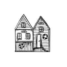 xxs mini stamp Beach Houses