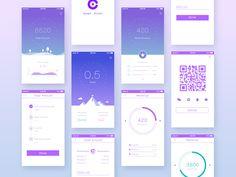 app for financial by lang li App Ui Design, Mobile App Design, Web Design, Credit Card App, Budget App, Mobile App Ui, Application Design, Layout Inspiration, User Interface