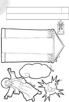 resurrección. Las tiras de papel sirven para darle relieve a las figuras. Se doblan y se pegan detrás de cada una.