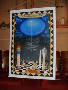 Our 3rd degree tracing board painted by our member Br. Walt Stewart