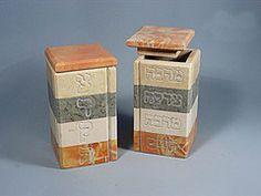 Give More, Live More Jerusalem Stone Tzedakah Box