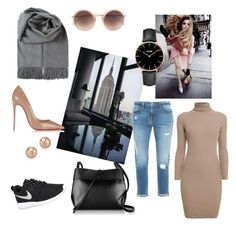 """""""Untitled #2"""" by molnar-eszter on Polyvore featuring Kara, Linda Farrow, Christian Louboutin, NIKE, Rumour London, CLUSE, Frame Denim and Bloomingdale's"""