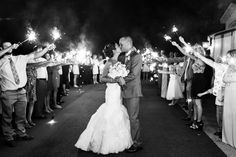 Sparkler exit. Tennessee wedding photographer. Cedar Hall Wedding Tennessee. Cedar Hall. Memphis Tennessee wedding. Creative wedding photos. Intimate wedding photos.