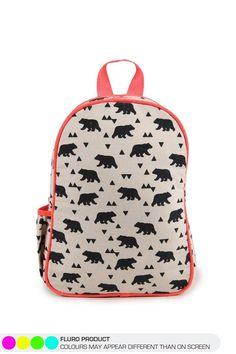 funky backpack BEAR