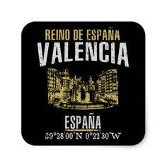 Valencia Square Sticker - retro gifts style cyo diy special idea