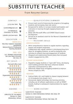 Substitute Teacher Job Description for Resume . Substitute Teacher Job Description for Resume . Best Duties A Substitute Teacher for A Resume Elementary Teacher Resume, Preschool Teacher Resume, Teacher Resume Template, Resume Templates, Teacher Resumes, Cv Template, Elementary Teaching, Primary Education, Resumes For Teachers