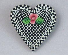 Polka Dot Heart Pin
