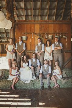 Rustic Wedding. I want my guys in these vests!