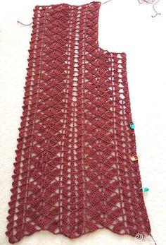 Crochet Ribbon Cardigan Making – Asuman Demir – Join in the world of pin Crochet Vest Pattern, Crochet Flower Patterns, Crochet Cardigan, Baby Knitting Patterns, Filet Crochet, Crochet Stitches, Crochet Top, Dress Patterns Uk, Simple Elegant Dresses