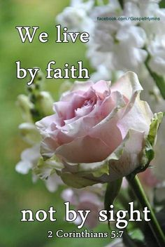 """(For we walk by faith, not by sight:)"" 2 Corinthians 5:7 KJV"