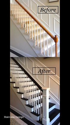 Report Exposes The Unanswered Questions On Staircase Remodel Stair R., Report Exposes The Unanswered Questions On Staircase Remodel Stair R. Stair Banister, Stair Walls, Banisters, Railings For Stairs, Black Stair Railing, White Banister, Stair Wall Decor, Redo Stairs, Stair Redo