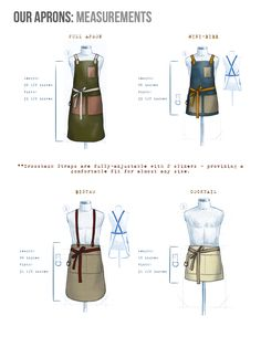 Apron Measurements | Butcher and Baker                                                                                                                                                                                 More