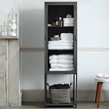 Metal bath cabinet.