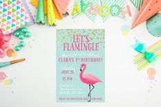 Hey, I found this really awesome Etsy listing at https://www.etsy.com/listing/236157046/digital-lets-flamingle-birthday-party
