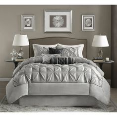 Shop for Madison Park Lafayette Grey Comforter Set. Get free shipping at Overstock.com - Your Online Fashion Bedding Outlet Store! Get 5% in rewards with Club…