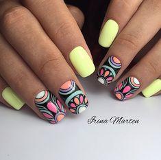 60 Cool Ideas for Fashionable Summer Manicure Nails Summer Nails Summer Manicure nail design Nail Art Ideas cool nail design acrylic nails Love Nails, Pretty Nails, Fun Nails, Glitter Nails, Uñas Diy, Gel Nagel Design, Nagellack Trends, Modern Nails, Girls Nails