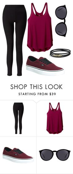 """red"" by emilygauker ❤ liked on Polyvore featuring Miss Selfridge, prAna, Vans, Yves Saint Laurent and David Yurman"