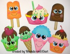 Ice Cream Shoppies Treats paper piecing set for premade scrapbook pages by Rhonda Scrapbook Images, Scrapbook Titles, Scrapbook Paper, Summer Crafts, Crafts For Kids, Foam Crafts, Paper Crafts, Ice Cream Crafts, Food Cartoon