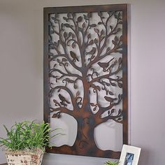 Improvements Metal Tree Of Life Wall Art Decor (43 NZD) ❤ Liked On Polyvore