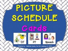 Picture Schedule Cards:  for Special Needs Students from Fun for Learning on TeachersNotebook.com -  (15 pages)  - A huge selection of pictures for picture schedules - appropriate for early childhood, self-contained, and regular education settings.