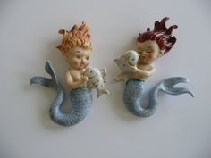 Vintage Norcrest Mermaids with Fish by familyinspired on Etsy,