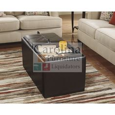 "Storage Ottoman with Tray  The ""Deshan Accents"" Ottoman with Storage features a comfortable box seat cushion a soft upholstery fabric which brings the exciting look of Metro Modern furniture to a new level of comfort perfect for any living area. #coffeetable"
