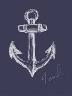 Anchor sketch | White on black