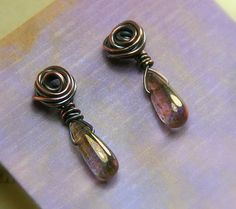 Wee Copper Roses with Add On Dangles  Post by AllowingArtDesigns, $18.00