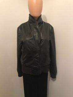 ee15e3989433 KENNETH COLE NEW YORK Leather Insulated Button Down Jacket Brown Size Large  887922211215