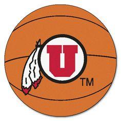 Utah Utes Basketball Area Rug