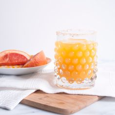 I love margaritas, this is basically a grapefruit - mango margarita sans triple sec and sans any lime. A paloma is traditionally tequila with grapefruit soda, San Pelegrino is a good version to use if you want to try the soda version. I make homemade juice most weekends in warmer weather, an
