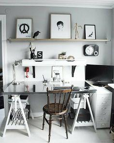 """""""Workspace Inspo and Image Regram thanks to Annelie @svartvittochrott based in Sweden.❤❤❤ Spotter thanks to Anna @annabylove ❤ A gorgeous workspace…"""""""