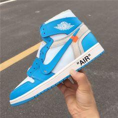 more photos 3ff39 9a4d9 Off-White x Air Jordan 1 UNC Powder Blue AQ0818-148