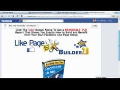 Create Facebook Fan Page with a Facebook Like-Fan Page Builder