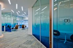 Who says glass has to be boring? Liven up your office with a space of color.