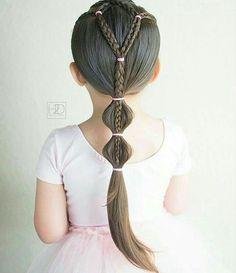 Light Pink Short Sleeve Leotard for Toddler & Girls - Frisuren Cute Toddler Hairstyles, Lil Girl Hairstyles, Trendy Hairstyles, Braided Hairstyles, Kids Hairstyle, Beautiful Hairstyles, Hairstyle Ideas, Short Haircuts, Hair Ideas