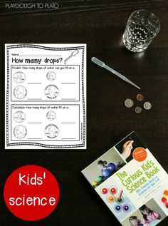 How Many Drops Will Fit? Fun kids' science experiment and free printable.