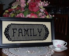 Crocheted name doily