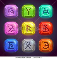rune stone design game - Google Search