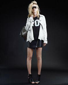 sporty black + white