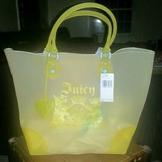 8b002f80b6f9 NWT Juicy Couture Beach Bag w/ towel NWT Never used juicy couture PVC  material beach