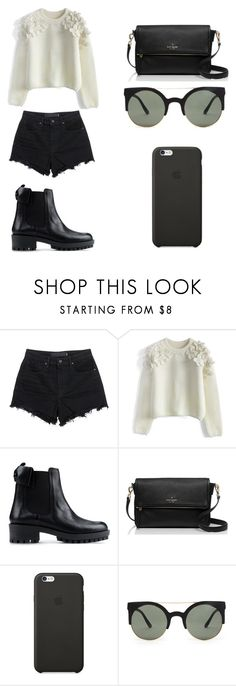 """Untitled #82"" by karenrodriguez-iv on Polyvore featuring T By Alexander Wang, Chicwish, RED Valentino, Kate Spade, Black Apple, Forever 21, women's clothing, women, female and woman"