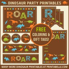 Dinosaur Party Printables and Invitations (with free samples!)