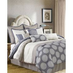 Dante 10-Piece Bedding Comforter Set, Gray