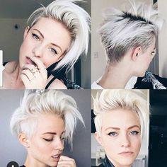 Messy blond undercut