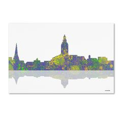 Annapolis Maryland Skyline III by Marlene Watson Graphic Art on Wrapped Canvas