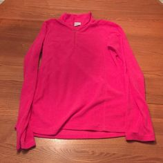 Columbia fleece sweater Hot pink, half zip. Worn maybe two times, still in perfect condition! Great for this colder weather ❄️ Tops Sweatshirts & Hoodies