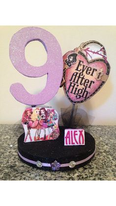 EVER AFTER High 3 Dimensional Party Centerpiece or by KBKreations1