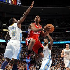 The Clippers' Chris Paul drives to the basket during Wednesday's game against Denver.